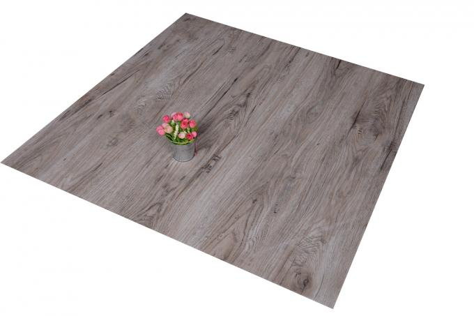 "Waterproof Wood Grain PVC Floor Tiles No - Wax 9""X48"" Installed With Glue"